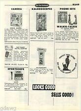 1968 PAPER AD Kookie Kamera Walkie Talkie Marie Freeze Queen Tootsie Roll Bank