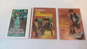3 x VINTAGE CLEVELAND  WESTERNS - COWBOY SHORT STORY PAPERBACK BOOKS