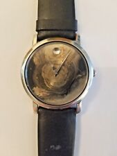 Rare Movado Museum Stainless Steel Quarts Water Resistant Mens Watch