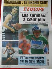 journal  l'équipe 07/07/99 CYCLISME TOUR DE FRANCE 1999 STEELS RIGAUDEAU