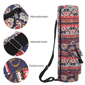 Multi-Functional Pockets Zipped Yoga Mat Bag Shoulder Carry Bag For Fitn.