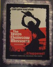 Texas Chainsaw Massacre Sew On Patch Leather Face Horror  Can You Survive