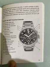IWC GST Cronografo calendario perpetuo ref. 3756 istruzioni Books 5 Lingue Raro