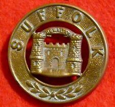 Suffolk Regiment Helmet Plate Centre Brass Post 1880