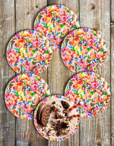 Sprinkles Drink Coasters Set of 6 Non Slip Neoprene Party Coasters