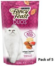 (Pack of 5) Fancy Feast Duos Cat Treats Cheddar & Crab Souffle 2.1oz