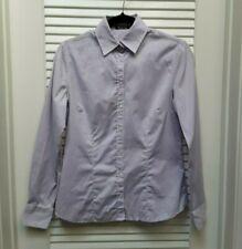 Massimo Dutti Button Down Womens Long Sleeve Shirt Top Size Small Purple