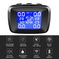 Car Wireless TPMS Tire Pressure Monitoring System Cigarette USB +4 Sensors D9Z8