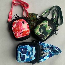 A Bathing Ape Bape Camouflage Pink Green Blue Messenger Bag Shoulder Bag Gift