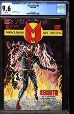 Miracleman 1 CGC 9.6 White 1985 Alan Moore Story Eclipse Comics