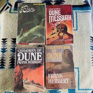 DUNE Saga Frank Herbert Book Club Editions HC/DJs 1965, 81, 76, 69