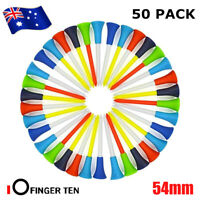 Golf Rubber Tees With Cushion Top 50Pack 54MM Plastic Tee Multi Color AU Stock