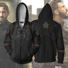 Captain America Hoodie 3D Print Sweatshirt Zipper Hooded Unisex Jacket Coat