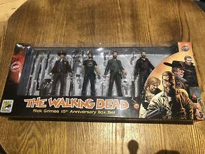 The Walking Dead Rick Grimes 15th Anniversary Box Set Figure Set SD Comic Con