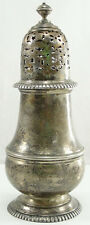 """Antique Currier & Roby Sterling Silver Muffineer Sugar Shaker Monogrammed 7 1/4"""""""