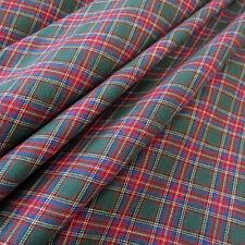 Stoff Meterware Baumwolle Karo Schottenkaro grün rot blau Flanell Webkaro weich