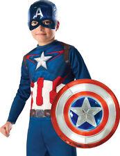 Bouclier en plastique metallisé Captain America 30 cm enfant - Cod.281605