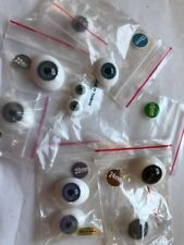 Handmade Glass Flat Backed Oval Doll Eyes x 3 Sets-NEW!