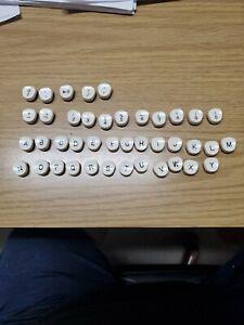 Smith-Corona White Typewriter Keys For Crafts or Jewelry.
