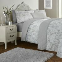 Dreams & Drapes LARGE PAISLEY Grey 200TC Cotton Rich Duvet Cover Set Bedding