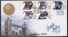 2012 Londres Jeux Paralympiques (cyclisme) Médaille d'or illus. Couverture signé SARAH Storey