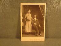 Edwardian Antique Cabinet Card Wedding Photo of Couple