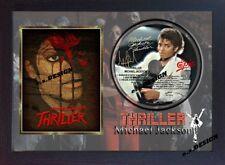 Michael Jackson PHOTO & Thriller CD Disc SIGNED Presentation Display Framed #02