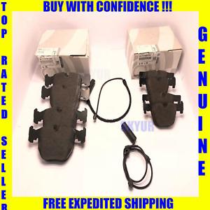 BMW Front & Rear Brake Pad Set+Sensor Kit 330 525 740 X3 X5 Z8 M3 Z4 Genuine
