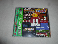 FACTORY SEALED PLAYSTATION PS1 GAME NAMCO MUSEUM VOL 3 BRAND NEW GALAXIAN DIGDUG