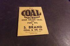 Vintage Sewing Needles Advertising Stott Coal & Fuel Oil Pennsylvania Hard Wash