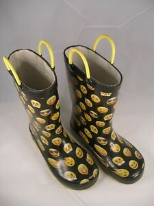 """Children's """"Happy Face"""" Rubber Boots..Size USA 11-12"""