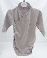 Boutchou body manche longue gris mauve motif coeur argenté bébé fille 3 mois