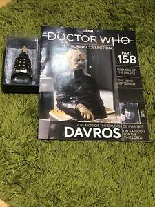 Dr Doctor Who Davros From Genesis Of The Daleks Eaglemoss Figurine 158 &Magazine