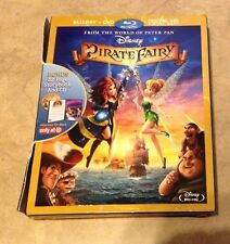 Disney The Pirate Fairy Blu-Ray + DVD + 32Pg Book in original case w/ slip cover