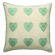 Catherine Lansfield Vintage Hearts Scatter Cushion Duck Egg Blue - 45cm/18in