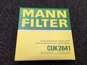Pollen / Cabin Filter CUK2641 Mann 4H0819439 Genuine Top Quality Guaranteed New