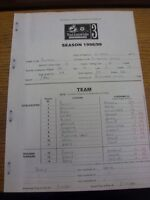 10/04/1999 The Football League Match Report: Rochdale v Rotherham United (Carbon
