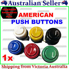 New: American style Push BUTTONS, Lock nut & Micro Switch ARCADE / MAME