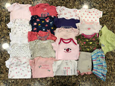 21 Pc Girls Clothes Lot size 3-6, 6-9, 9-12 month Carters Little Wonders Child