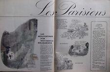 DESSIN HUMORISTIQUE 1962 SEMPÉ LES MÉSAVENTURES D'UN NOCTAMBULE MALCHANCEUX