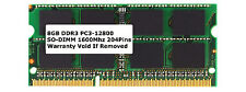 8GB PC3-12800 SODIMM DDR3 Laptop 12800 1600MHz 1600 204-pin Ram Memory