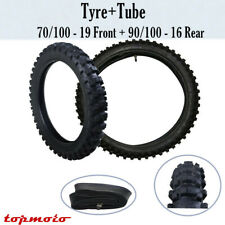 70/100-19 90/100-16 Front Rear Tire Tyre w/ Tube For KX100/CRF150F/R CR SX85 KX