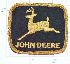 Vintage John Deere Metallic Gold Threading Embroidered Iron-on Clothing Patch