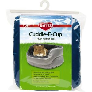 Kaytee Cuddle-E-Cup Plush Habitat Bed | Cozy Resting Spot for Small Animals