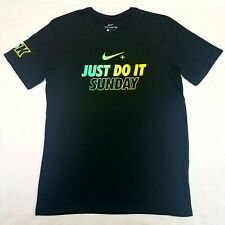 NEW Nike Dri-Fit Nike+ Run Club NRC Just Do It Sunday 5K Running T-Shirt Size M