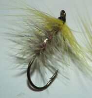 grayling/trout/seatrout/salmon flies----- pink lady's partridge dry size 8