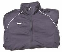 NIKE Boys Tracksuit Top Jacket 12-13 Years Large Black Polyester  MW05