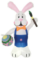 EASTER BUNNY WITH EGG  PAINT BRUSH 7 FT AIRBLOWN INFLATABLE YARD DECORATION