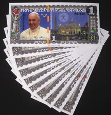 Wholesale Lot 10x 1 Euro 2016 Pope Francis Vatican Polymer Fantasy Art Notes!