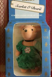 "Scarlett O'Beara Scarlett O'Hara Vivien Leigh 5"" mini VIP NABCO bear NIB vintage"